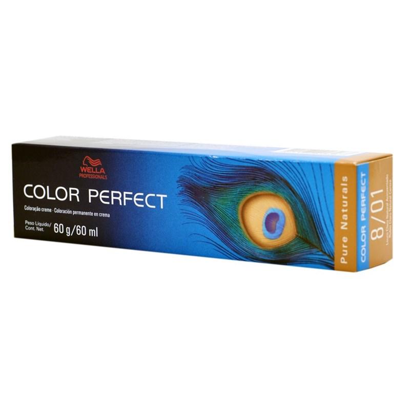 Coloração Wella Color Perfect 60 gr Louro Claro Natural Acinzentado 8.01