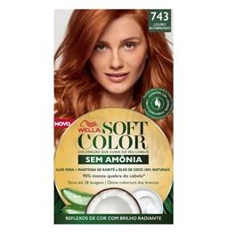 Coloração Wella Soft Color Especial Louro Acobreado 743