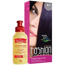 Coloração Yamá Fashion Color 4.2 Castanho Médio 90g + Yamasterol