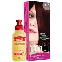 Coloração Yamá Fashion Color 5.66 Castanho Claro 90g + Yamasterol