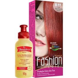 Coloração Yamá Fashion Color 8.66 Louro Claro Vermelho Intenso 90g + Yamasterol