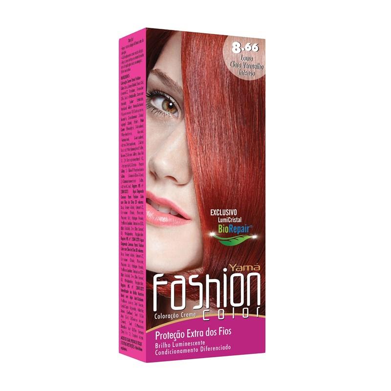 Coloração Yama Fashion Color Louro Claro Vermelho Intenso 8.66