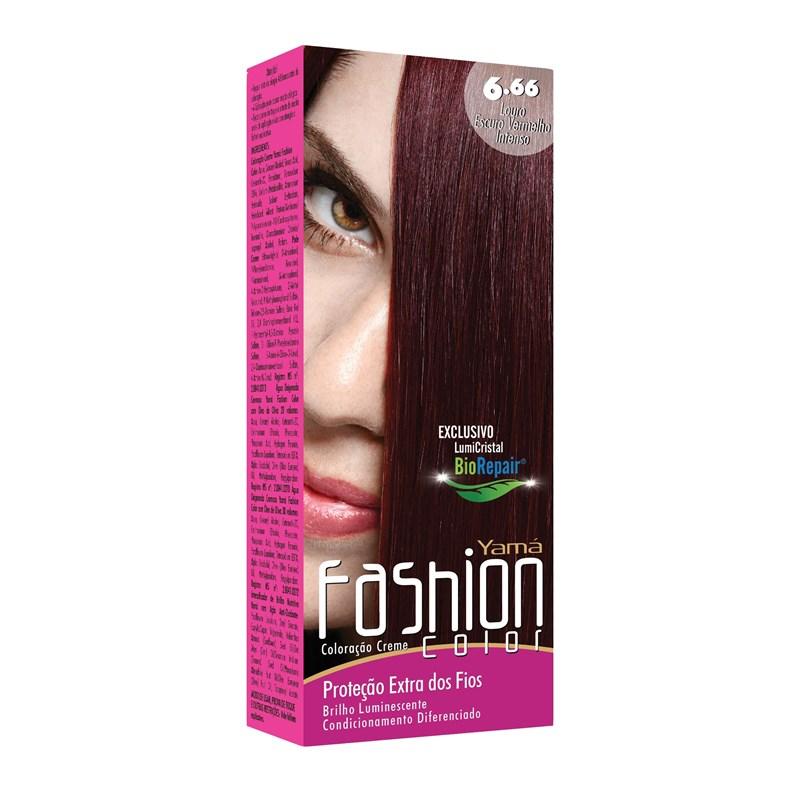 Coloração Yamá  Fashion Color Louro Escuro Vermelho Intenso 6.66