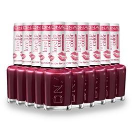Combo Batom Tinta DNA Italy Love Lip Color Cherry 10 Unidades