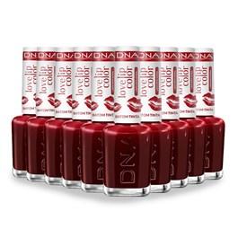 Combo Batom Tinta DNA Italy Love Lip Color Red 10 Unidades