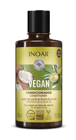 Condicionador Inoar Vegan 300 ml Óleo de Coco & Óleo de Oliva