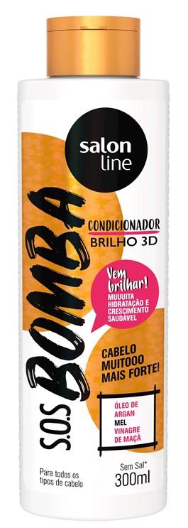 Condicionador Salon Line S.O.S Bomba 300 ml Brilho 3D