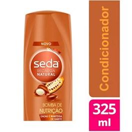 Condicionador Seda Recarga Natural 325 ml Bomba de Nutrição