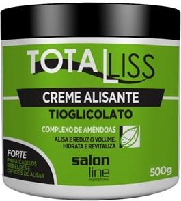 Creme Alisante Salon Line Total Liss 500 gr Forte Cabelos Muitos Crespos Ondulados ou Volumosos