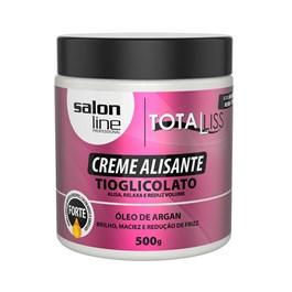 Creme Alisante Salon Line Total Liss 500 gr Óleo de Argan Forte