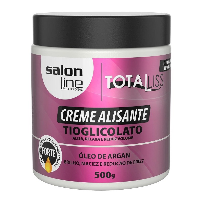 Creme Alisante Salon Line Total Liss 500 gr Oleo de Argan Forte