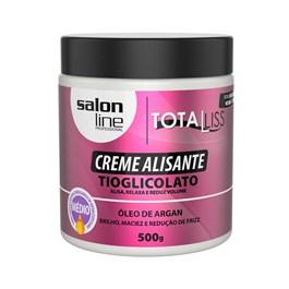 Creme Alisante Salon Line Total Liss 500 gr Óleo de Argan Médio