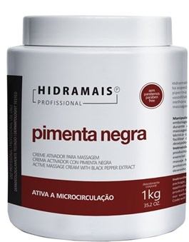 Creme Ativador para Massagem Hidramais 1 kg Pimenta Negra