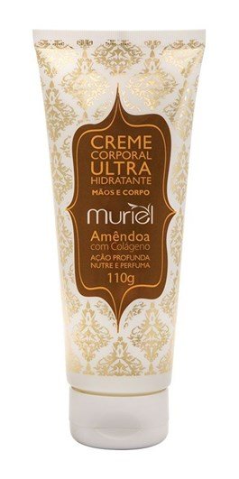 Creme Corporal Ultra Hidratante Muriel 110 gr Amêndoa Com Colágeno