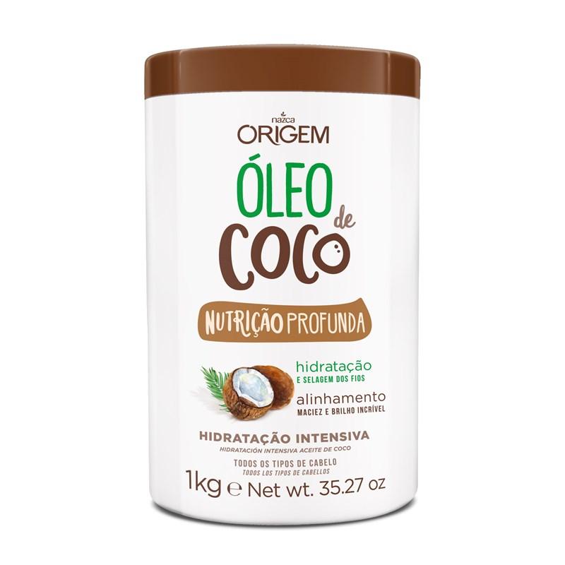 Creme de Hidratação Origem Óleo de Coco 1 kg Nutrição Profunda
