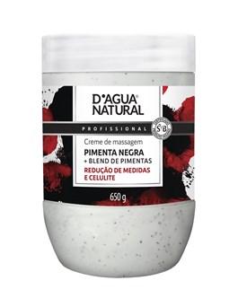 Creme de Massagem D'Agua Natural 650 gr Pimenta Negra