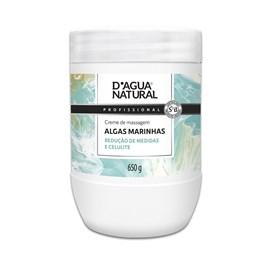 Creme de Massagem D'Agua Natural Algas Marinhas Centella Asiática e Bio Ativo Natural 650 gr