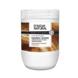 Creme de Massagem D'Agua Natural Cafeína 650 gr