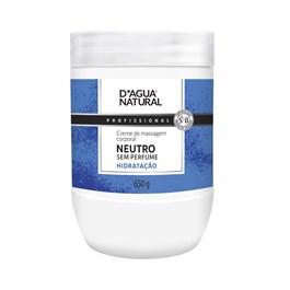 Creme de Massagem D'Agua Natural Neutro 650 gr Sem Perfume