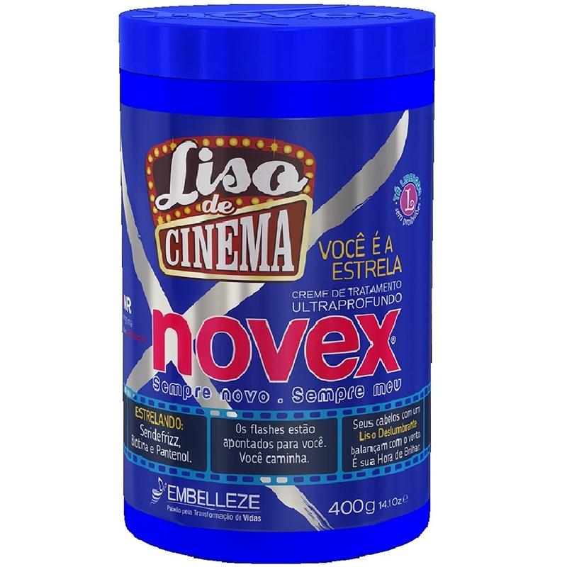 Creme de Tratamento Novex Liso de Cinema 400 gr Voce e a Estrela