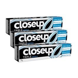 Creme Dental Close Up Triple 70 gr Hortelã Leve 03 Pague 02