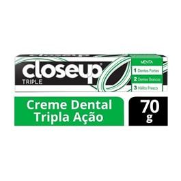 Creme Dental Close Up Triple 70 gr Menta