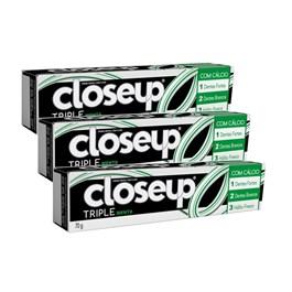 Creme Dental Close Up Triple 70 gr Menta Leve 03 Pague 02