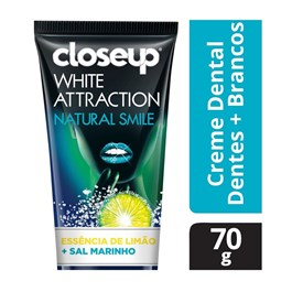 Creme Dental Close Up White Attraction 70 gr Natural Smile