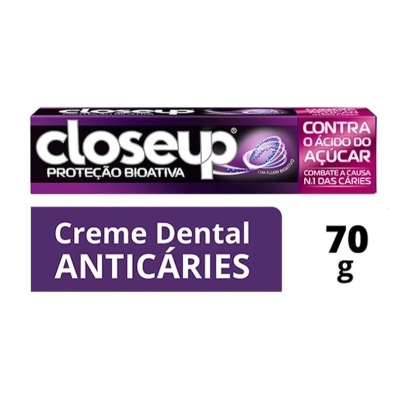 Creme Dental Closeup 70 gr Contra Ácido do Açucar