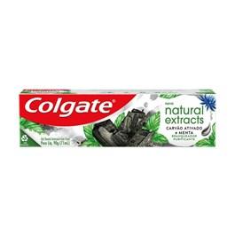 Creme Dental Colgate Natural Extracts 90 gr Carvão Ativado e Menta