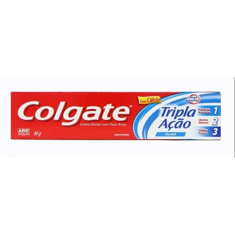 Creme Dental Colgate Tripla Ação 90 gr Hortelã