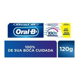Creme Dental Oral-B 100% 120 gr Menta Refrescante