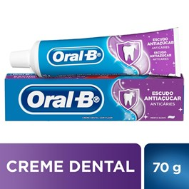 Creme Dental Oral-B Escudo Antiaçúcar 70 gr Anticáries