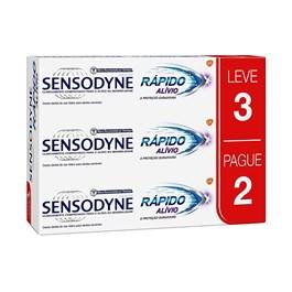 Creme Dental Sensodyne 90 gr Rápido Alívio Leve 03 Pague 02