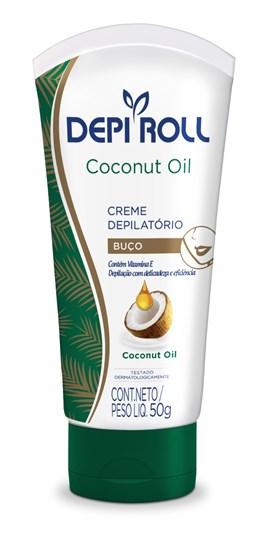Creme Depilatório para Buço Depi Roll Coconut Oil 100 gr