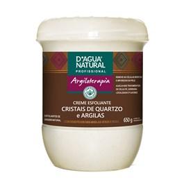 Creme Esfoliante D'Agua Natural 650 gr Cristais de Quartzo e Argilas