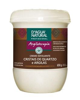 Creme Esfoliante D'Agua Natural Argiloterapia 650 gr Cristais de Quartzo e Argilas