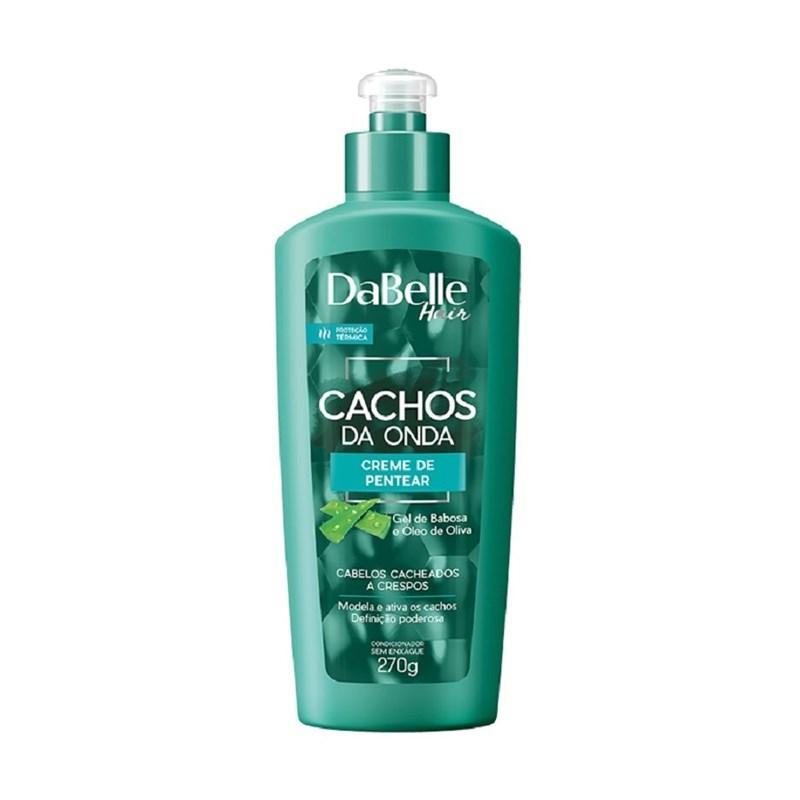 Creme para Pentear DaBelle Hair Cachos da Onda 270 ml Cabelos Cacheados a Crespos