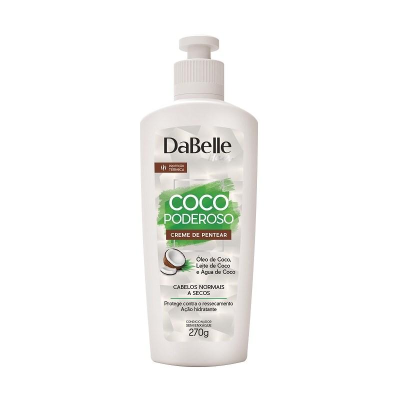 Creme para Pentear DaBelle Hair Coco Poderoso 270 gr Cabelos Normais a Secos