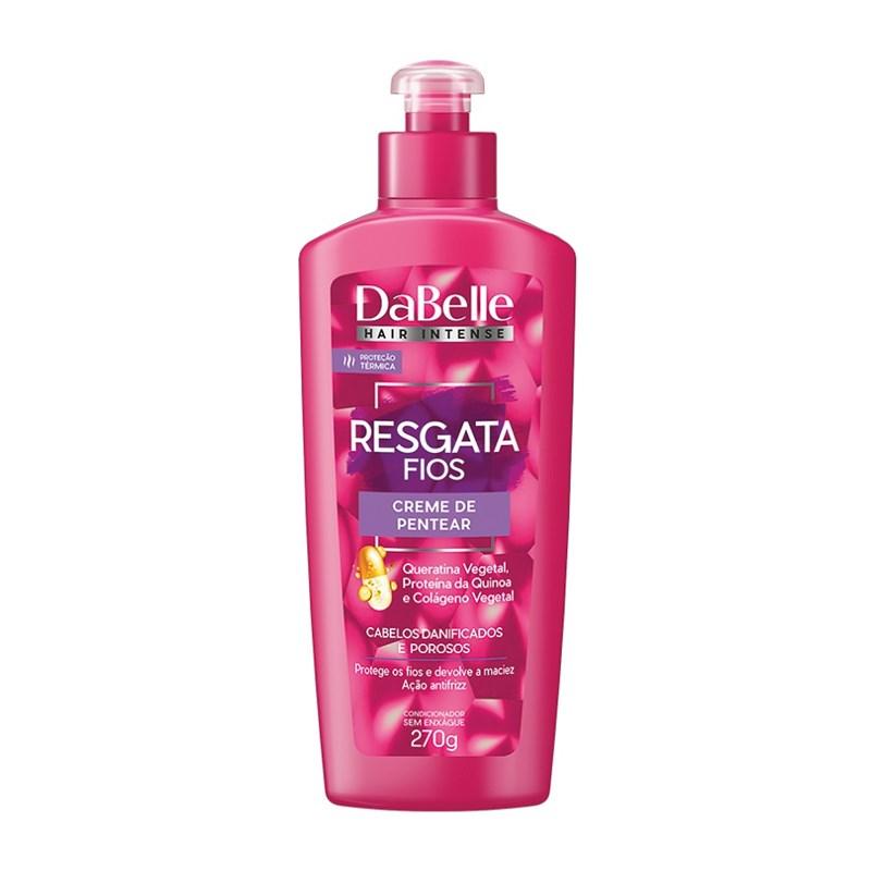 Creme para Pentear DaBelle Hair Resgata Fios 270 gr Cabelos Danificados e Porosos