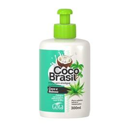 Creme para Pentear Gota Dourada Coco Brasil 300 ml Coco e Babosa