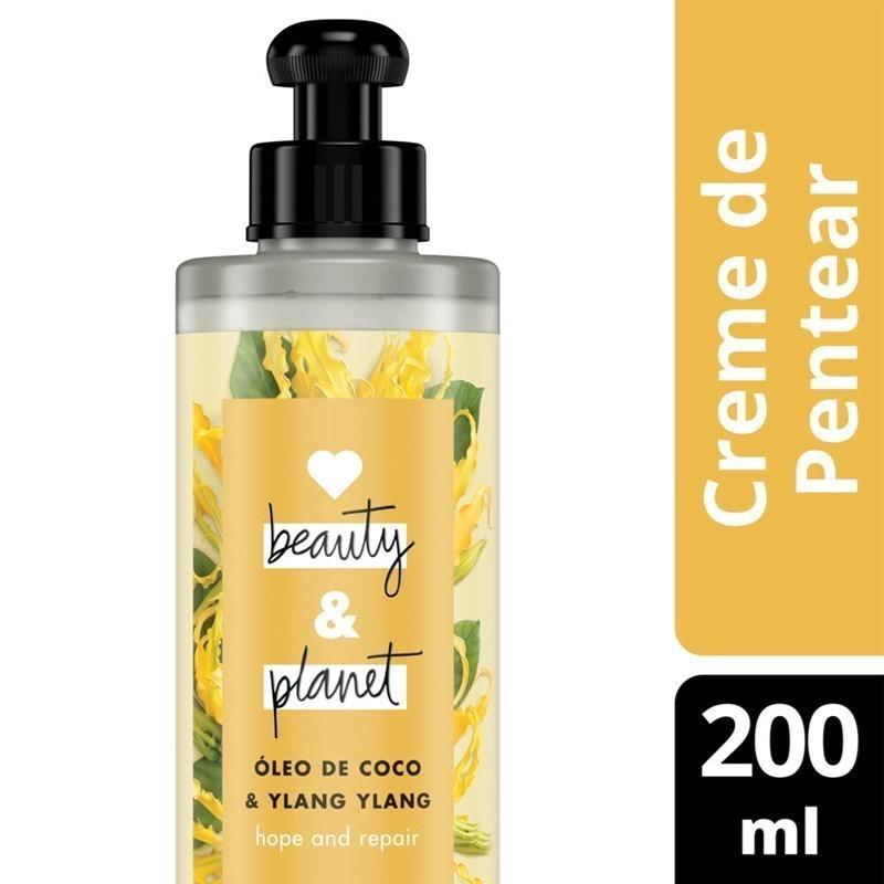 Creme para Pentear Love Beauty & Planet 200 ml Óleo de Coco e Ylang Ylang