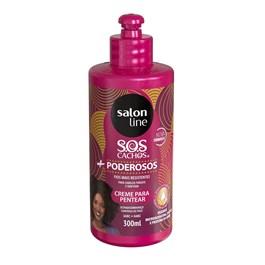 Creme para Pentear Salon Line S.O.S Cachos + Poderosos 300 ml Cacheados e Crespos