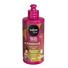 Creme para Pentear Salon Line S.O.S Cachos + Poderosos 300 ml Ondulados e Cacheados
