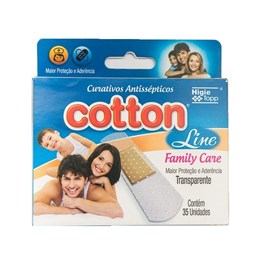 Curativo Cotton Line Family Care 35 Unidades Transparente
