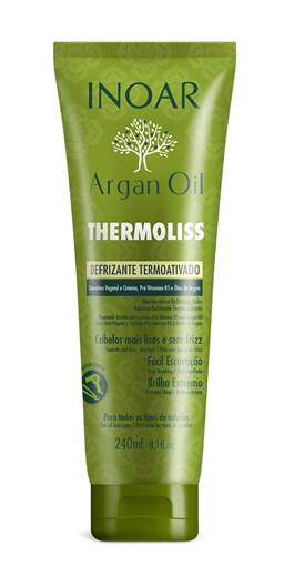 Defrizante Termoativado Inoar Argan Oil 240 ml Thermoliss