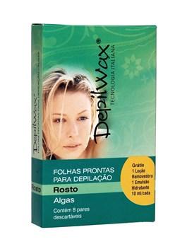 Depilwax Folhas Prontas Facial 8 Pares Algas