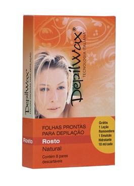 Depilwax Folhas Prontas Facial 8 Pares Natural