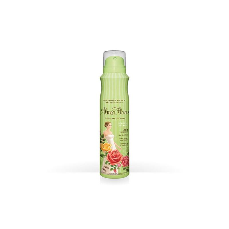 Desodorante Aerosol Alma de Flores 95 gr Essencia de Jasmim