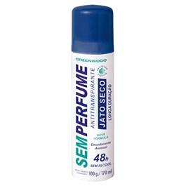 Desodorante Aerosol Antitranspirante Greenwood Sem Perfume 100 gr